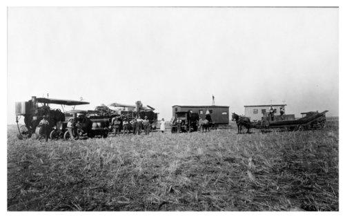 Arch Parrott's wheat harvest crew, Thomas County, Kansas - Page