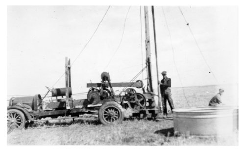 Drilling a water well on the Frank Cersovsky farm, Thomas County, Kansas - Page