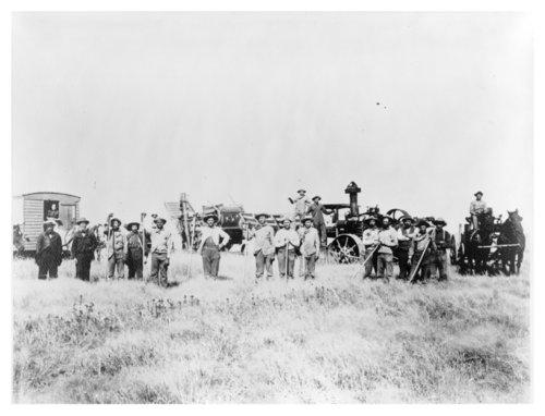 R.B. Elliott's harvest crew near Levant, Thomas County, Kansas - Page