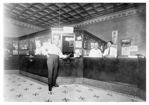 Interior of an unidentified bank in Colby, Thomas County, Kansas - Page