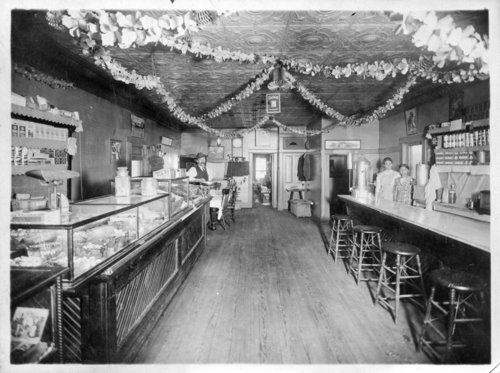 Interior view of an unidentified café and bakery, Colby, Thomas County, Kansas - Page