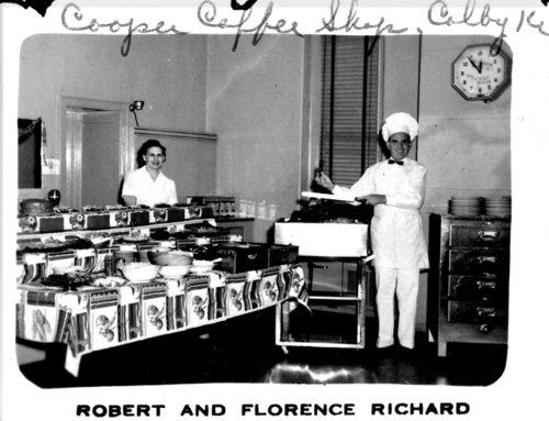 Florence and Robert Richard, Cooper Coffee Shop, Colby, Thomas County, Kansas - Page