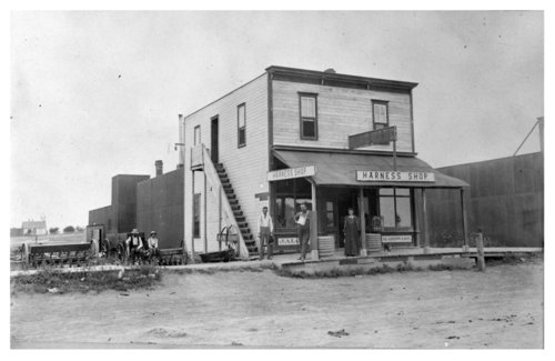 Two views of the exterior of the Josiah Alcott Harness and Hardware Shop, Colby, Thomas County, Kansas - Page