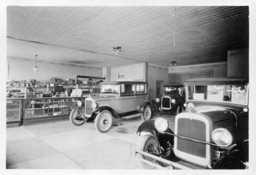 Interior view of the Bill Brown Chevrolet Agency, Colby, Thomas County, Kansas - Page