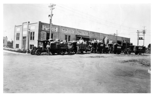Exterior view of the Carpenter and Shafer wholesale produce company, Colby, Thomas County, Kansas - Page
