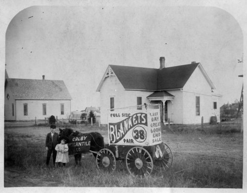 Advertising wagon for the Colby Mercantile Company, Colby, Thomas County, Kansas - Page