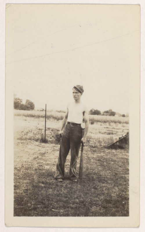 Harvey Victor 'Rudy' Maxson playing baseball in Elwood, Kansas - Page