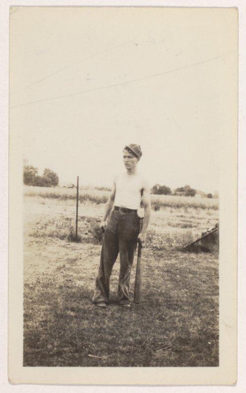 Harvey Victor 'Rudy' Maxson playing baseball in Elwood, Kansas - Page