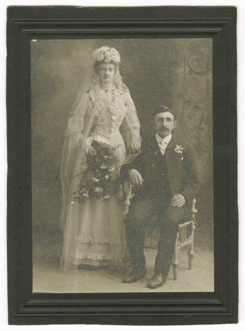 Alexander Staerkel and Johanna Henke Staerkel on their wedding day in Topeka, Kansas - Page