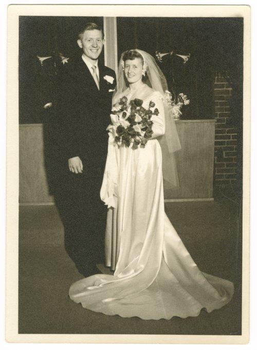 Charles (Chick) Gordon and Bonnie Benson Gordon on their wedding day in Topeka, Kansas - Page