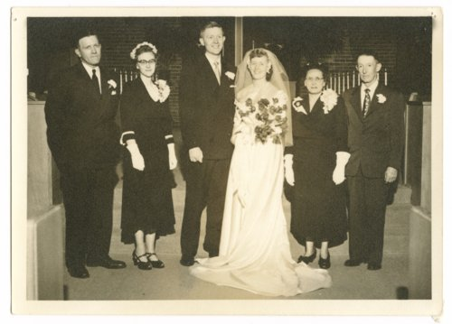 Charles (Chick) Gordon and Bonnie Benson Gordon on their wedding day in Topeka, Kansas - Page