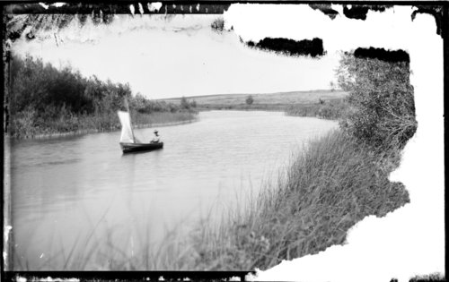 Boating on the Tom Pratt farm pond, Studley, Sheridan County, Kansas - Page
