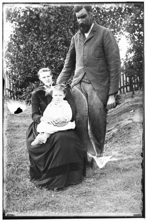 Mr. and Mrs. Christopher McGuire and daughter Clara, Studley, Sheridan County, Kansas - Page