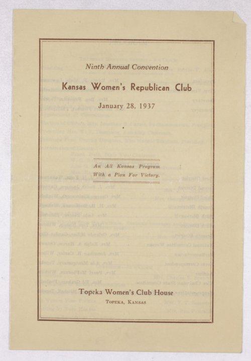 Kansas Women's Republican Club programs - Page