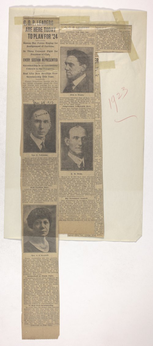 Kansas Day Club newspaper clippings - Page