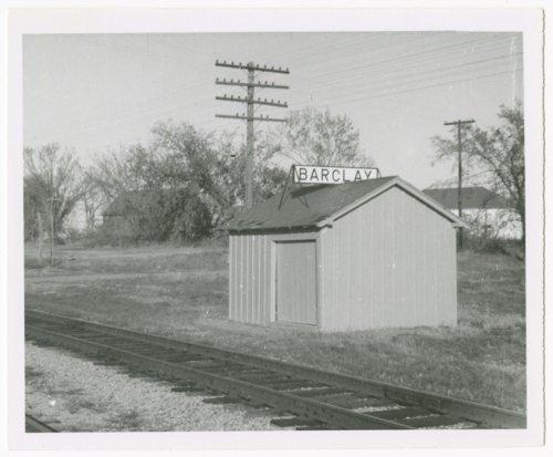 Atchison, Topeka, & Santa Fe Railway Company's box depot, Barclay, Kansa - Page