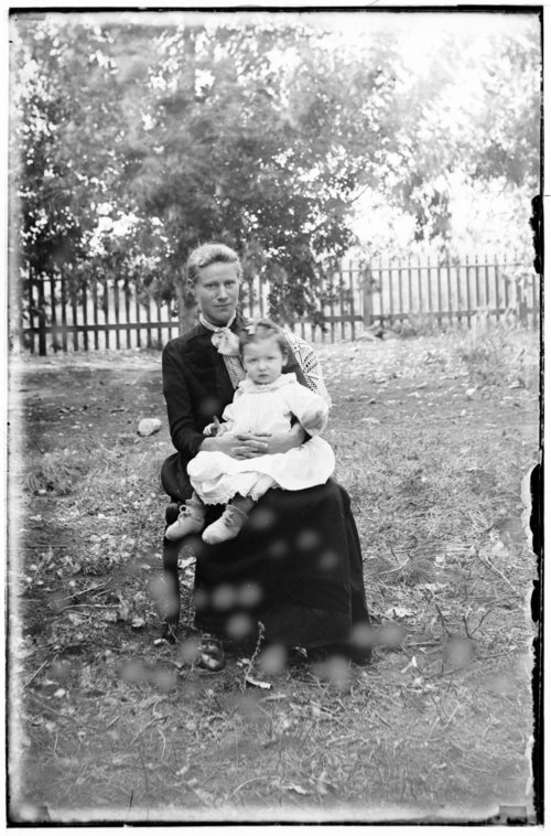 Mrs. Christopher McGuire and daughter Clara, Studley, Sheridan County, Kansas - Page