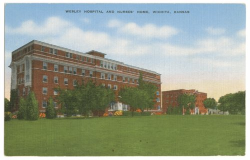 Wesley Hospital and Nurses' Home postcard - Page