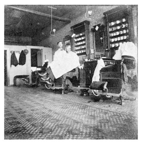 Interior view of the Bogue Barber Shop, Neodesha, Wilson County, Kansas - Page