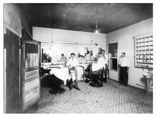 Interior of Weston Barber Shop, Neodesha, Wilson County, Kansas - Page