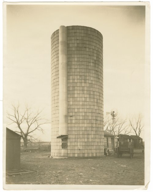 Silo,  Hernon Shearer homestead, near Glen Elder, Kansas - Page