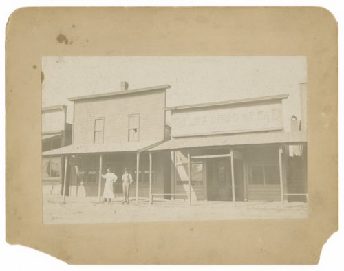 Exterior view of the H.F. Davis meat market, Colby, Thomas County, Kansas. - Page