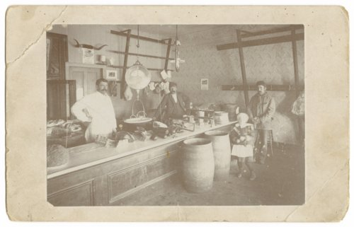 Interior view of the H.F. Davis meat market, Colby, Thomas County, Kansas - Page