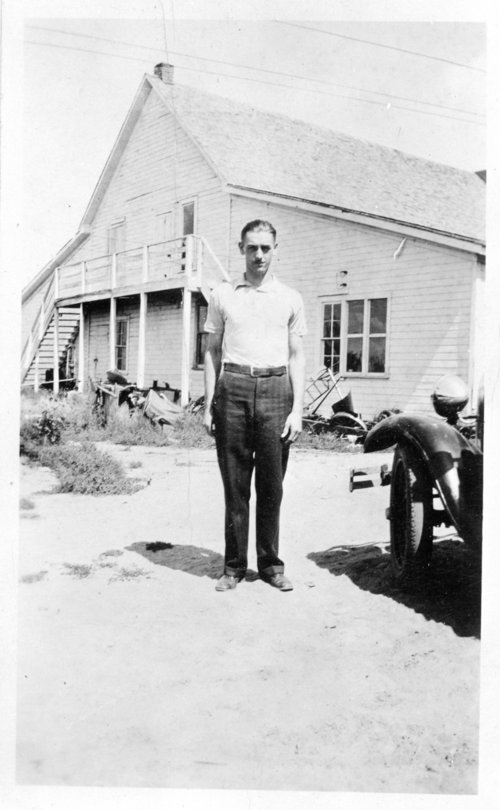 Bailey's blacksmith shop and man photograph - Page