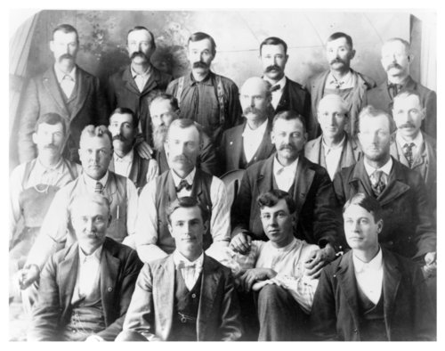 Group photo of businessmen in Rexford, Thomas County, Kansas - Page