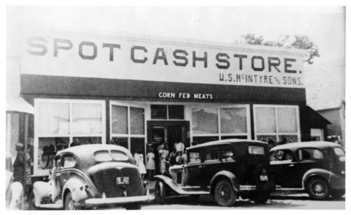 W.S. McIntyre and Sons' Spot Cash Store photograph - Page