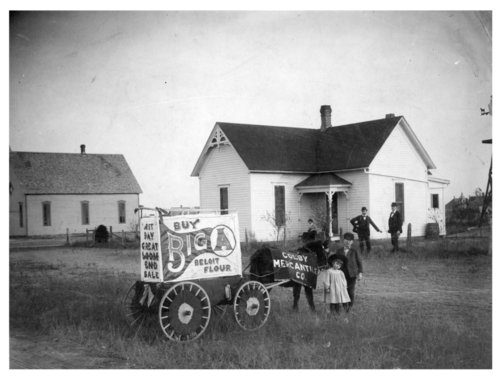 Horse-drawn advertising wagon for the Colby Mercantile Company, Colby, Thomas County, Kansas - Page