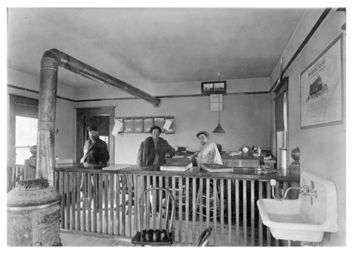 Interior view of the Foster Lumber Company offices, Colby, Thomas County, Kansas - Page