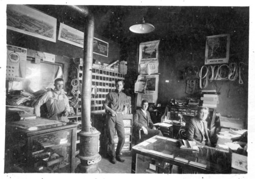 Interior view of the offices of the Glenn Oil Company, Colby, Thomas County, Kansas - Page
