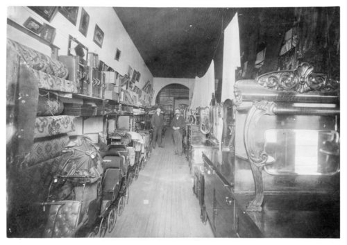 Interior view of the Nick Schroeder furniture store, Colby, Thomas County, Kansas - Page