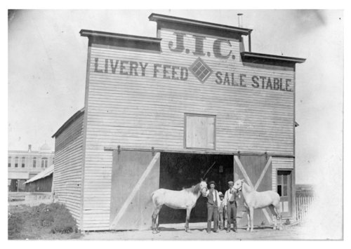 Exterior view of the J.I.C. Livery Stable, Colby, Thomas County, Kansas - Page