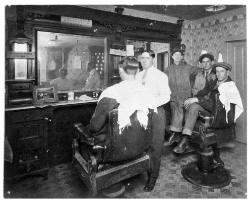 Interior view of McBride's Barber Shop, Colby, Thomas County, Kansas - Page