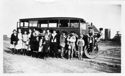 Colby school bus with students, Colby, Thomas County, Kansas - Page