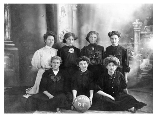 Formal group portrait of the Colby High School girls' basketball team, Colby, Thomas County, Kansas - Page