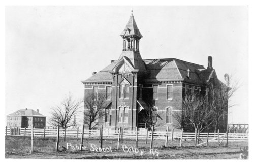 Exterior view of the Colby Public School building, Colby, Thomas County, Kansas - Page