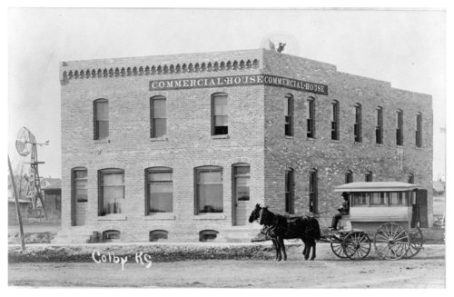 Exterior view of the Commercial House hotel, Colby, Thomas County, Kansas - Page