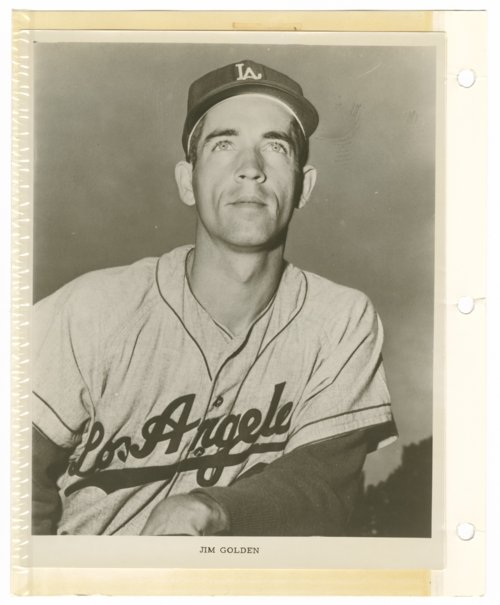 Jim Golden of the Los Angeles Dodgers - Page