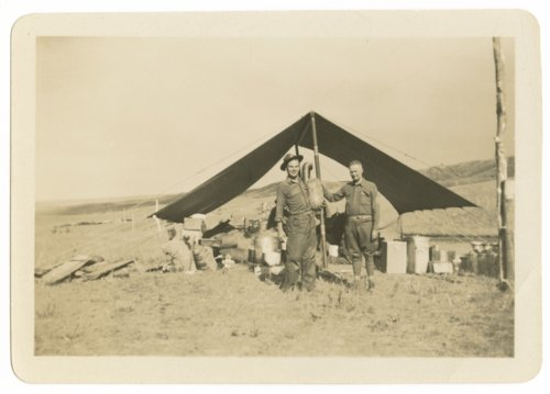 Soldiers camping in tents at Fort Riley, Kansas - Page