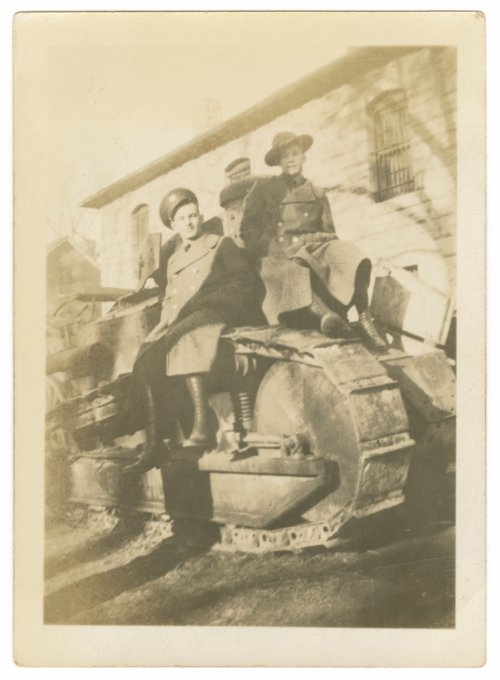 Soldiers on a tank at Fort Riley, Kansas - Page