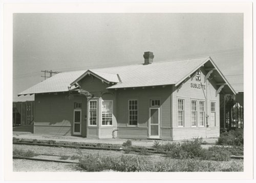 Atchison, Topeka & Santa Fe Railway Company depot, Sublette, Kansas - Page