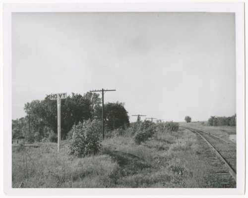 Chicago Rock Island & Pacific Railroad sign board, Hoyt, Kansas - Page