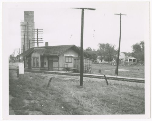 Atchison, Topeka and Santa Fe Railway Company and the St. Louis-San Francisco Railway Company depot, Valley Center, Kanas - Page