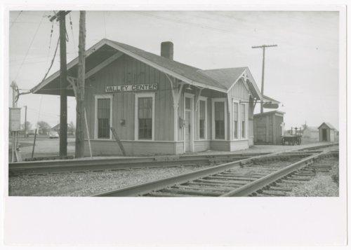 Atchison, Topeka & Santa Fe Railway Company and St. Louis-San Francisco Railway Company depot, Valley Centr, Kansas. - Page