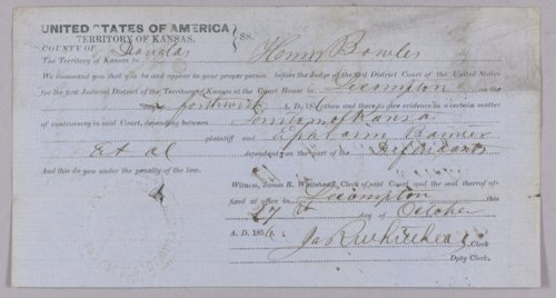 Kansas Territory versus Ephraim Bainter and others for robbery - Page