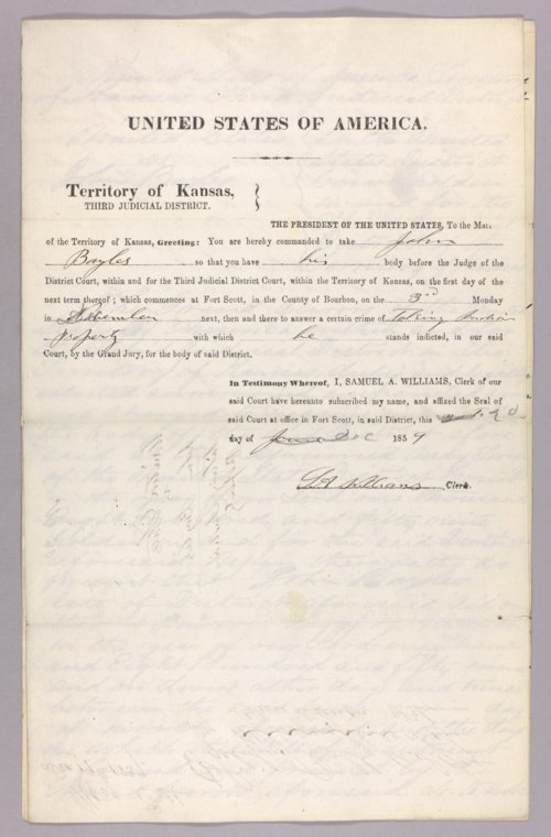 United States versus John Bayles for taking Indian property - Page