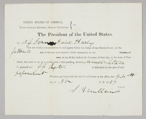 United States versus John J. Baxter for selling liquor to Indians - Page